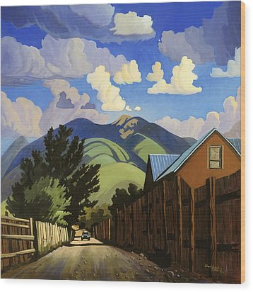 Wood Print featuring the painting On The Road To Lili's by Art James West