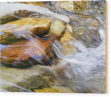 On The Rocks Wood Print by Edward Hamilton