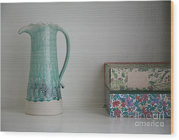 Wood Print featuring the photograph On The Shelf.... by Lynn England