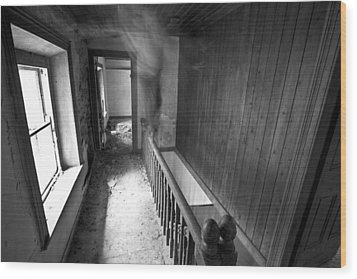 On The Stairs Wood Print by David Hollinger