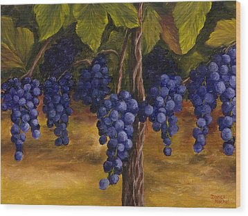 Wood Print featuring the painting On The Vine by Darice Machel McGuire