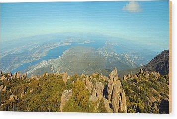 On Top Of The World Tasmania Wood Print
