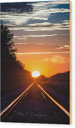 Wood Print featuring the photograph On Track by Allen Biedrzycki