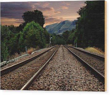 On Track. Wood Print