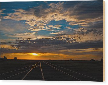 On Track Wood Print by Shirley Heier