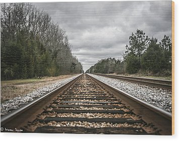 On Track Wood Print by Steven  Taylor