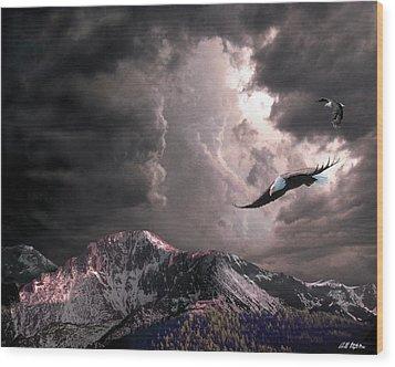 On Wings Of Eagles Wood Print