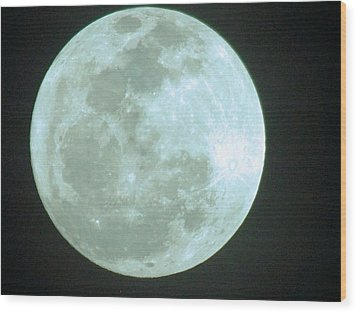 Once In A Blue Moon Wood Print by David Rizzo