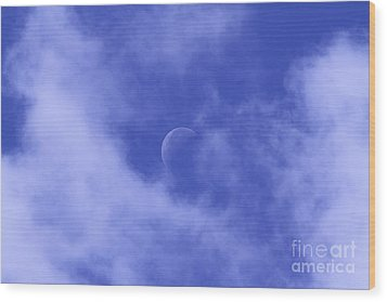 Wood Print featuring the photograph Once In A Blue Moon by Judy Whitton