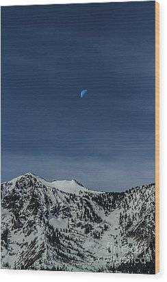 Once In A Blue Moon Wood Print by Mitch Shindelbower