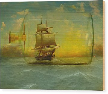 Once In A Bottle Wood Print by Jeff Burgess