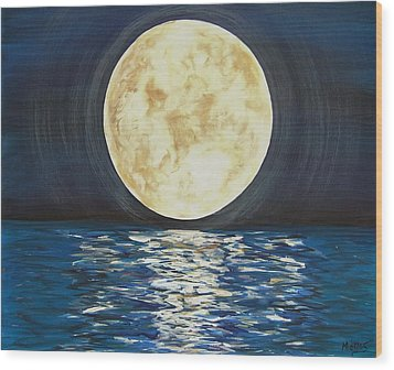 Once In A Very Blue Moon Wood Print
