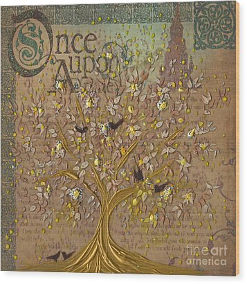 Once Upon A Golden Garden By Jrr Wood Print