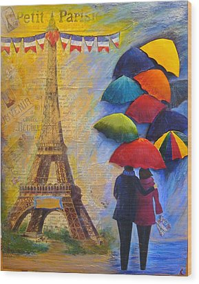 Once Upon A Time In Paris Wood Print