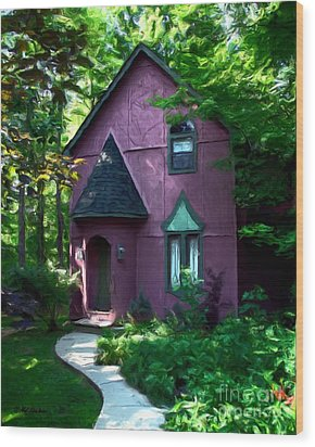 Once Upon A Time Wood Print by Mel Steinhauer