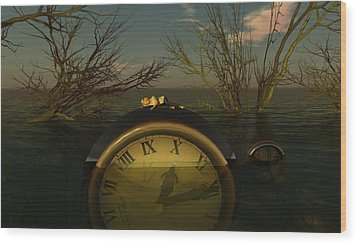Once Upon A Time Wood Print by Whiskey Monday