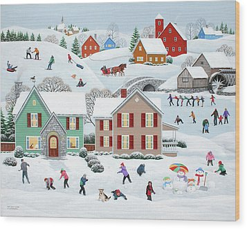 Once Upon A Winter Wood Print by Wilfrido Limvalencia