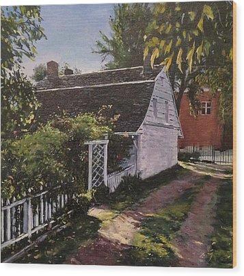 Onderdonk House  Garden Wood Print by Victor SOTO