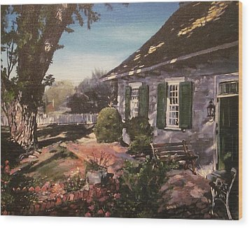 Onderdonk House Wood Print by Victor SOTO