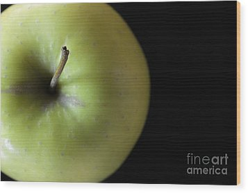 One Apple - Still Life Wood Print by Wendy Wilton