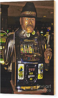 One Arm Bandit Slot Machine 20130308 Wood Print by Wingsdomain Art and Photography