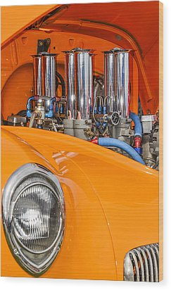 One Chrome Light Wood Print by Carolyn Marshall
