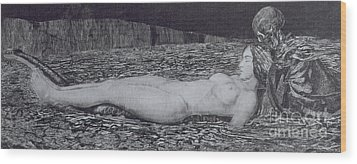 One Corpse Wood Print by August Bromse