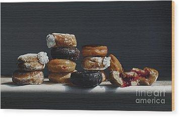 One Dozen Donuts Wood Print by Larry Preston