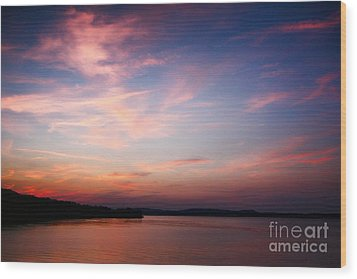 One Fine Sunset Wood Print