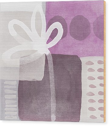 One Flower- Contemporary Painting Wood Print