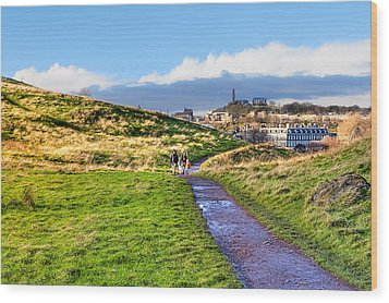 One Golden Day In Edinburgh's Holyrood Park Wood Print by Mark E Tisdale