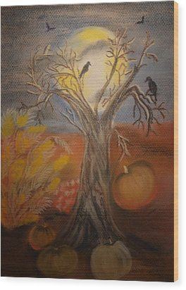 One Hallowed Eve Wood Print by Maria Urso