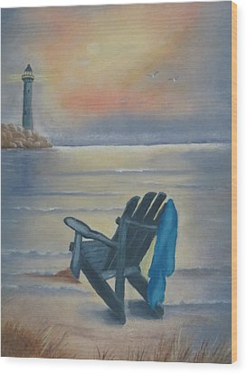 One Is A Lonely Number Wood Print by Kay Novy
