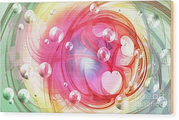 One Love... One Heart... One Life Wood Print by Peggy Hughes