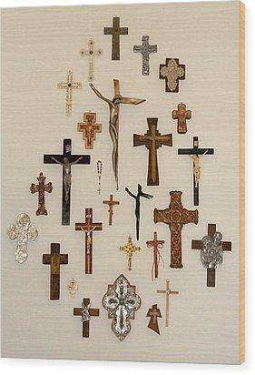 One More Cross Wood Print