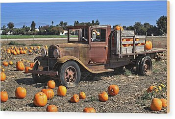Wood Print featuring the photograph One More Pumpkin by Michael Gordon