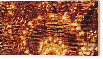 One Night In Paris - Abstract Art Wood Print by Carol Groenen