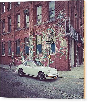 One Of My Favorite Wall With Graffiti Wood Print by Pavel Bendov