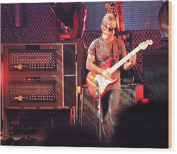 Wood Print featuring the photograph One Of The Greatest Guitar Player Ever by Aaron Martens