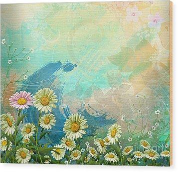 One Pink Daisy Wood Print by Bedros Awak