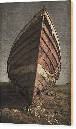 One Proud Boat Wood Print by Svetlana Sewell