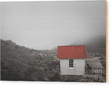 Wood Print featuring the photograph One Room In A Fog by Ellen Cotton