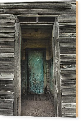 One Room Schoolhouse Door - Damascus - Pennsylvania Wood Print