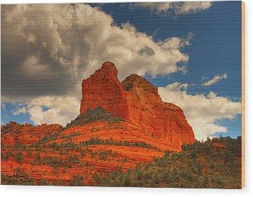 One Sedona Sunset Wood Print