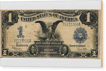 One Silver Dollar Wood Print by Lanjee Chee