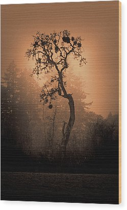 One Stands Alone Wood Print by Dale Stillman