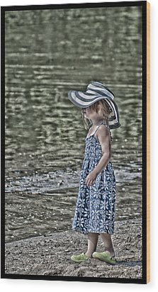 One Summer Day In A Child's  Life Wood Print