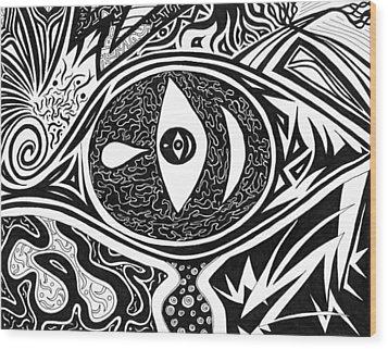 One Tear Wood Print by Kerri White