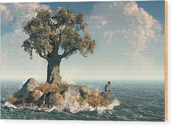 One Tree Island Wood Print by Daniel Eskridge