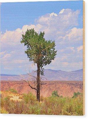 One Tree Wood Print by Marilyn Diaz
